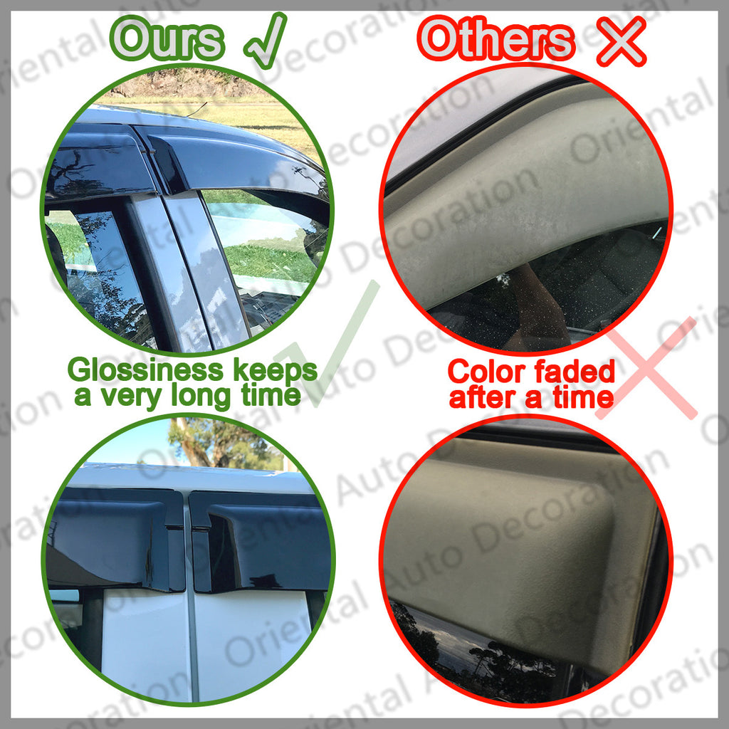 Premium Weather Shields Weathershields Window Visors for Suzuki Swift 17-20 model SJ