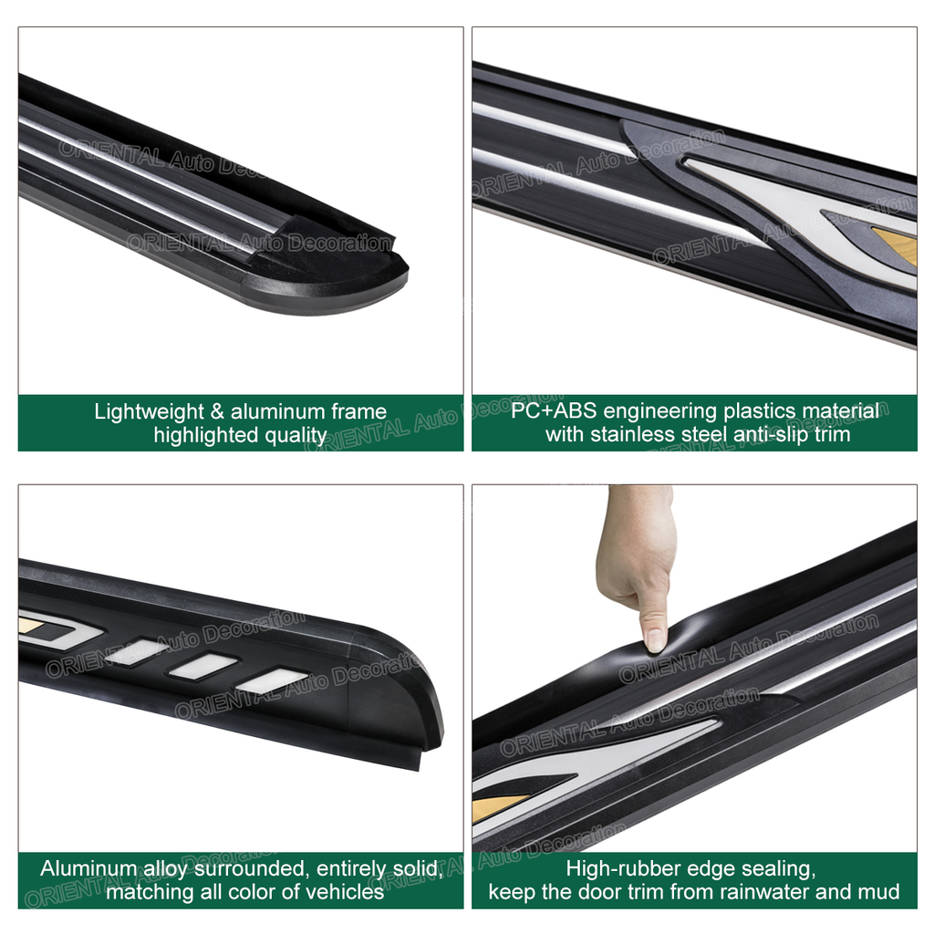 Aluminum Side Steps Running Board For Ford Kuga TF 13-16 #ZY