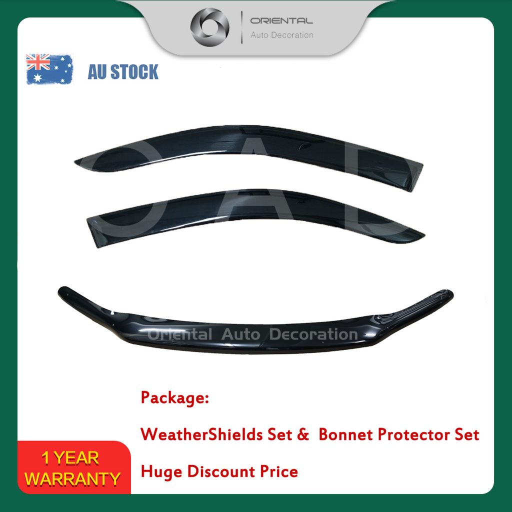 Bonnet Protector & Weathershields Weather shields window visor for Toyota Hilux Single / Extra Cab 2015+ 2P #BC#S