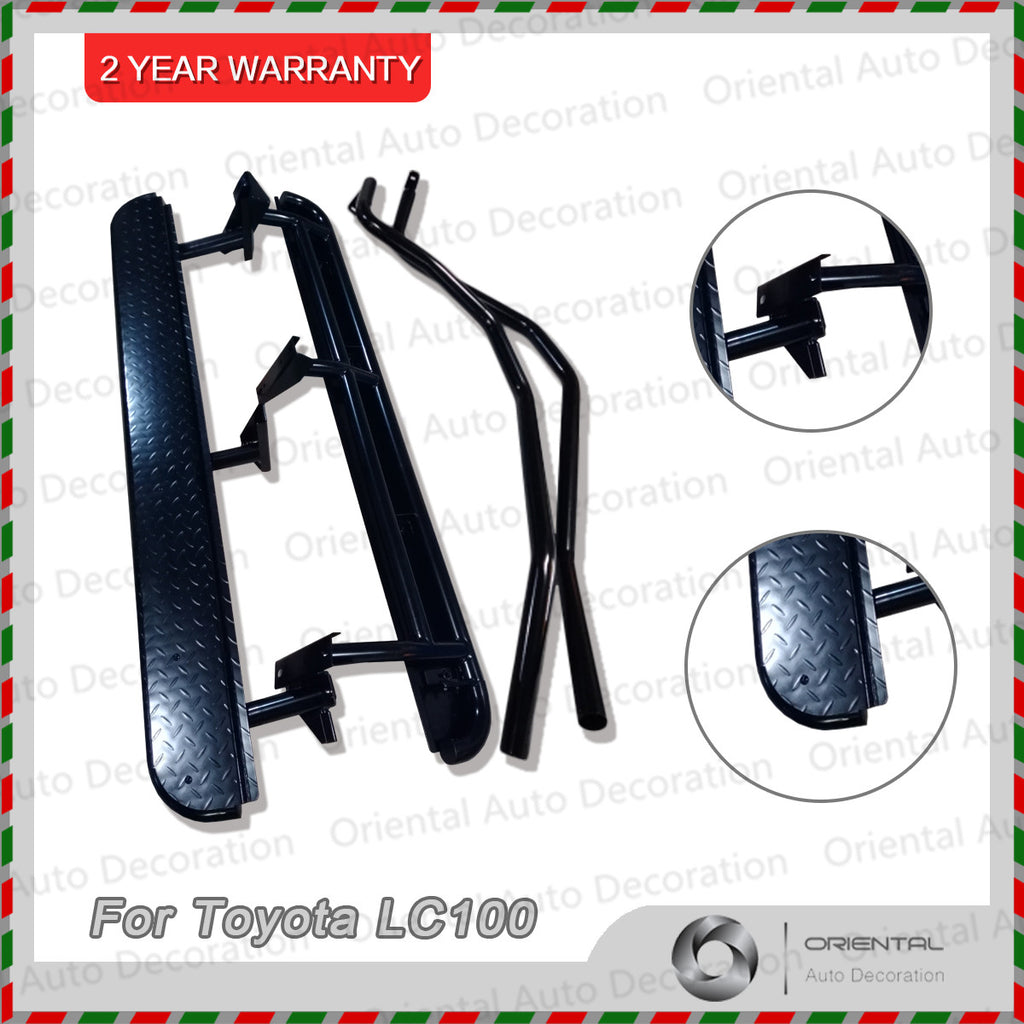For Toyota LC100 / Land Cruiser Landcruiser 100 98-07 IFS model Heavy Duty Steel Side Steps & Brush Bars