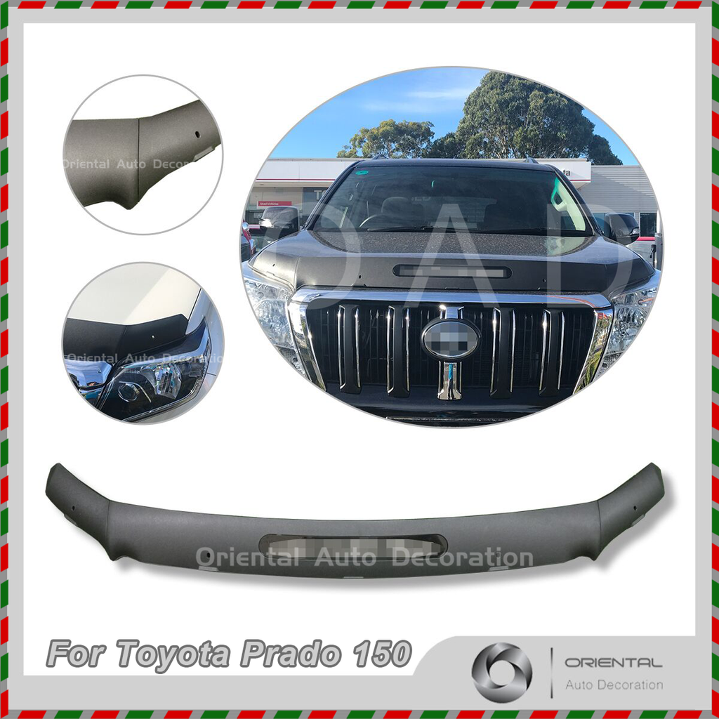 Injection Exclusive Three-Piece Detachable Bonnet Protector for Toyota Land Cruiser Prado 150 13-17