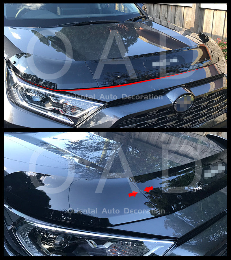 Injection Exclusive Three-Piece Detachable Bonnet Protector for Toyota RAV4 2019+