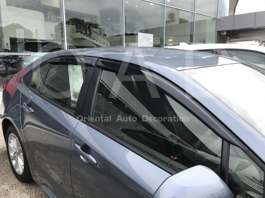 Luxury weathershields weather shields window visor For Toyota Corolla sedan 2019- model T