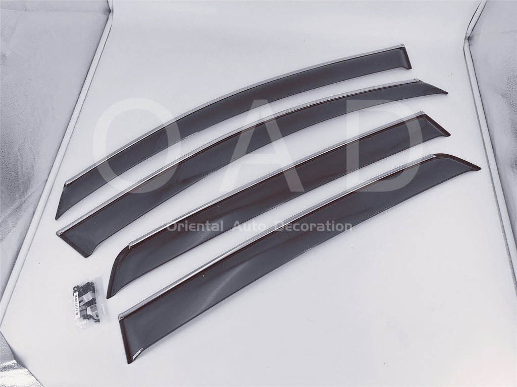 Injection Chrome Weather Shields Weathershields Window Visor for Volkswagen Golf 5th Gen MK5 04-09 K