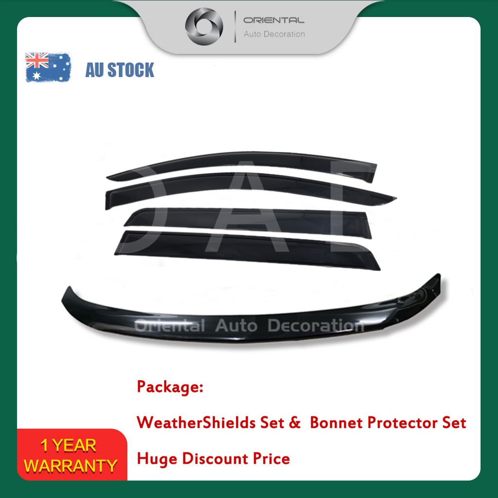 Bonnet Protector & Luxury Weathershields Weather shields window visor for Mitsubishi QE series pajero sport 15-19 #BC