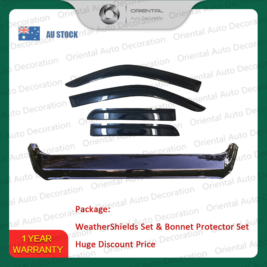 Bonnet Protector and Weathershields Window Visors for Great Wall Steed dual cab 16-20 T
