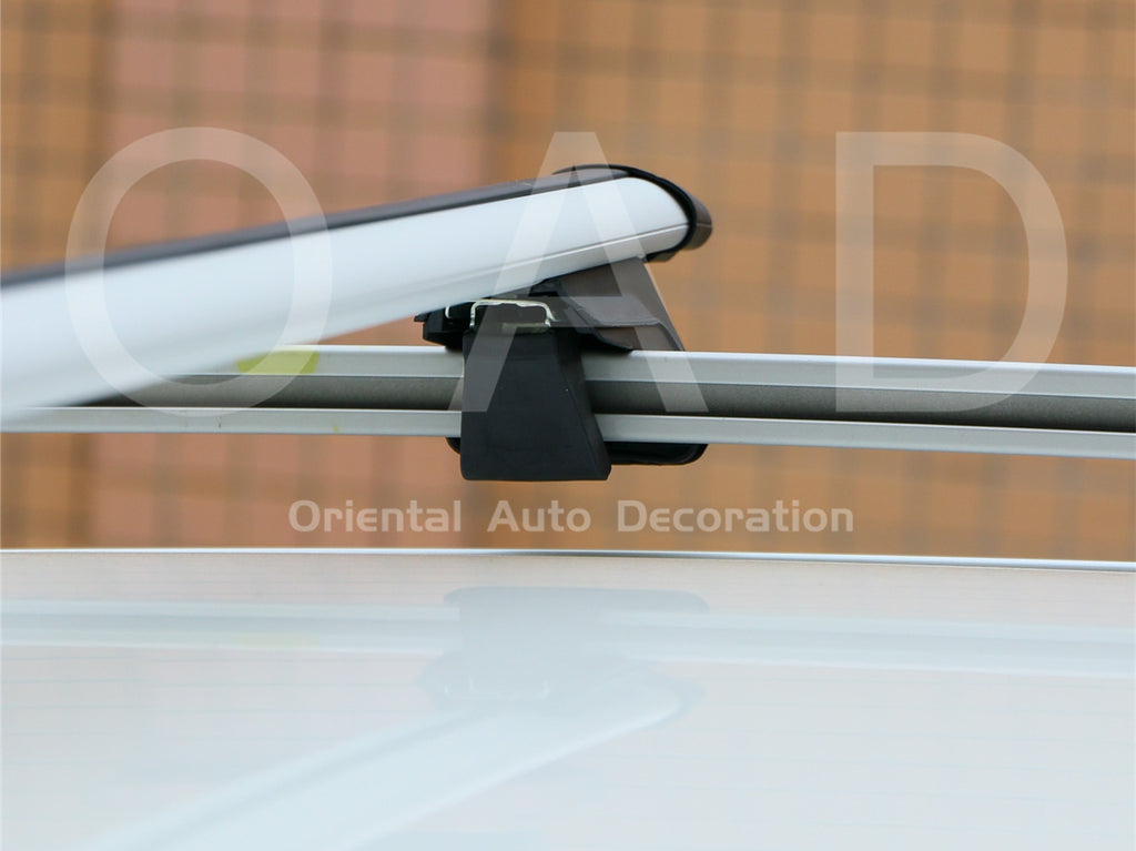 1 Pair Aluminum Silver Cross Bar Roof Racks Baggage holder for Volkswagen Tiguan L 2016- with raised roof rail