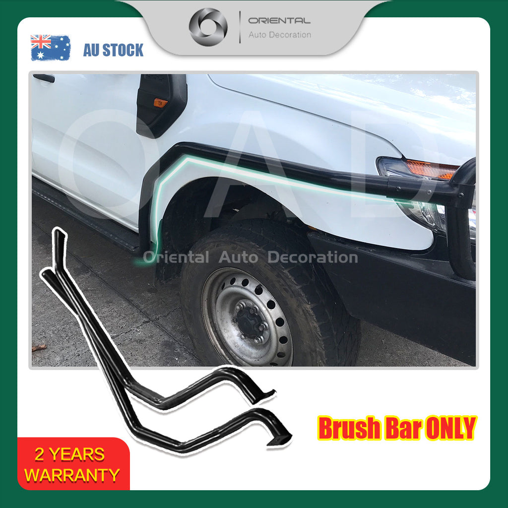 For Ford Ranger Dual Cab 2012-2018 model Heavy Duty Steel Brush Bars