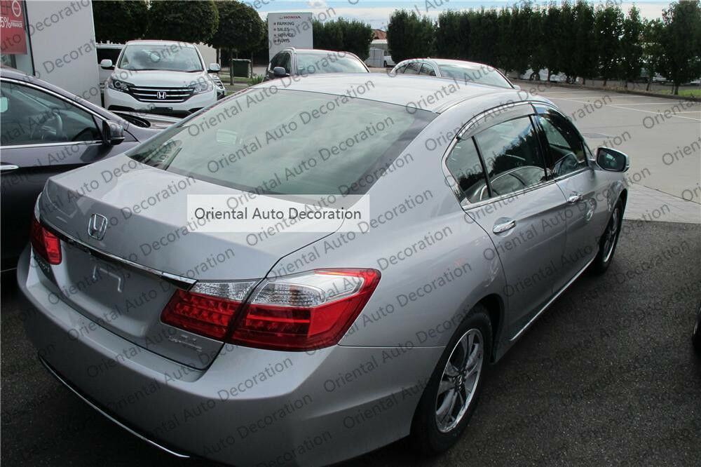 Injection  Chrome weathershields weather shields window visor For Honda Accord 9th 13-19 model