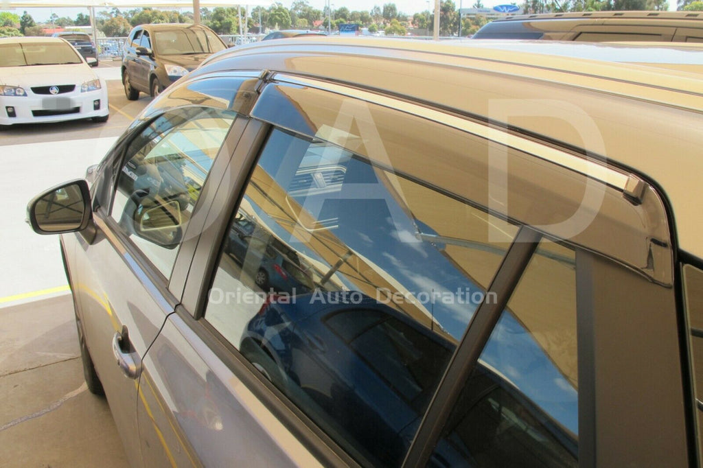 Injection Chrome weathershields weather shields window visor For Suzuki S-Cross model