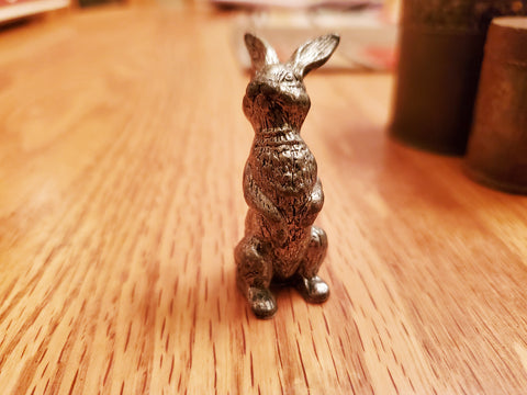 Miniature Pewter Bunny Rabbit Figure