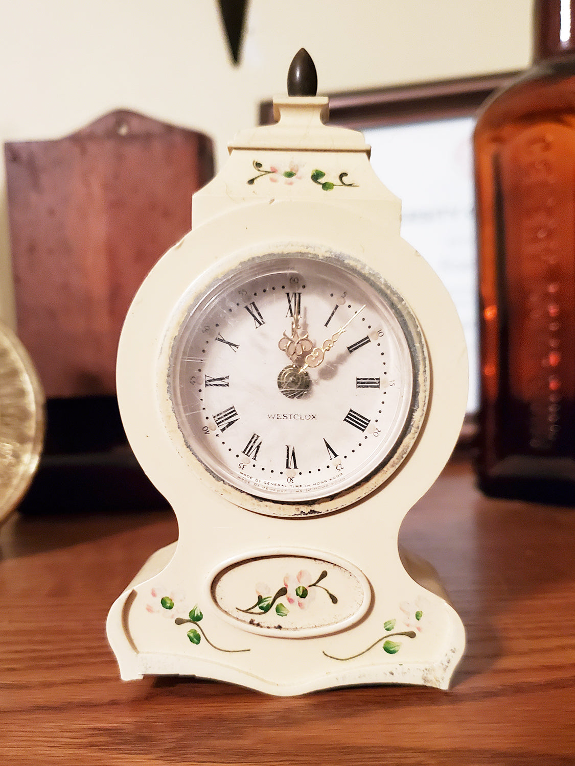 "Westclox 5"" Miniature Mantle Alarm Clock - Made By General Time"