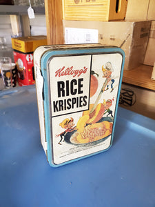 Kellogg's Rice Krispies Metal Tin With Snap Crackle And Pop Ornaments Inside