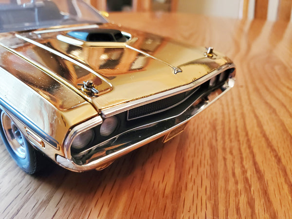24K Gold 1970 Dodge 426 Hemi RT Challenger Convertible