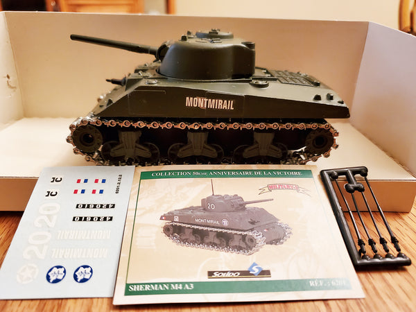Solido Military-2 Diecast Sherman Tank #6201