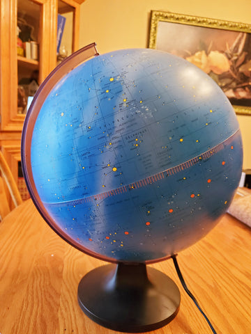 Celestial Globe Constellation Night Sky Light Up - Scan Globe Denmark - 11""