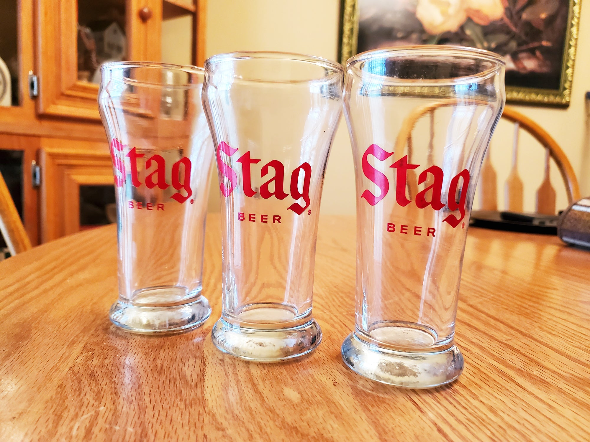Stag Beer glasses - Set of 3