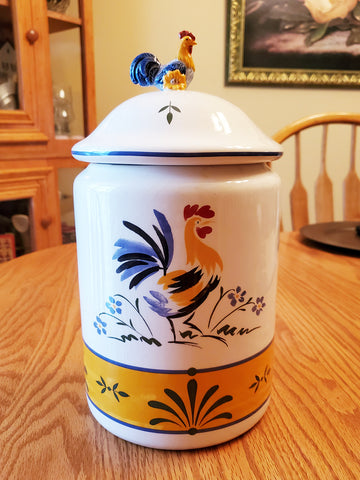 "Avon rooster canister / cookie jar - 11¾"" tall"