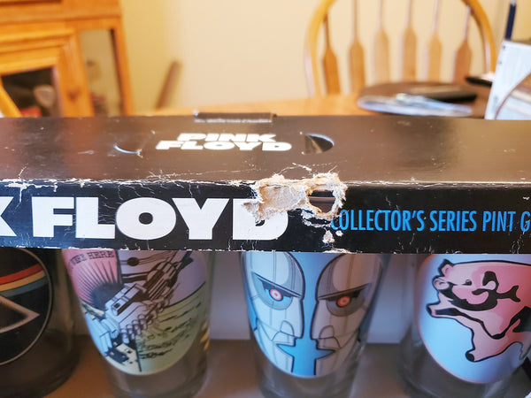 Pink Floyd Tour Collector's Series 4 Piece Pint Glass Set Rare In Original Box