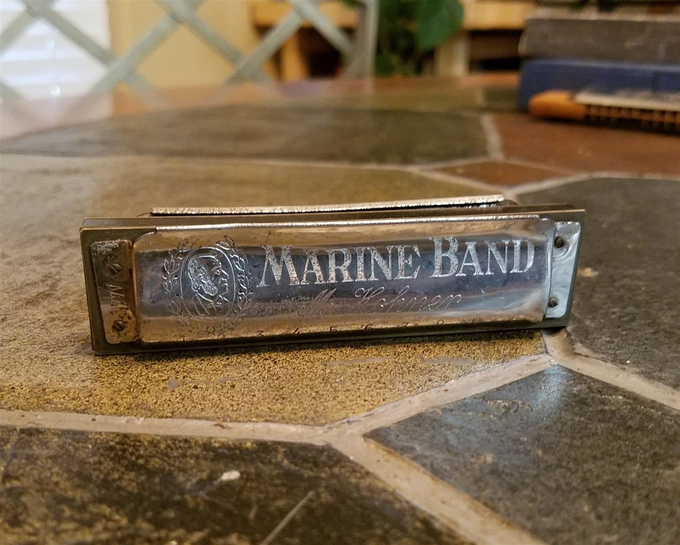 Vintage Marine Band Harmonica No. 1896 made by M. Hohner - Germany