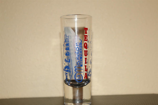 Mexican Tequila tall shooter glass, 2 ozs (60ml)