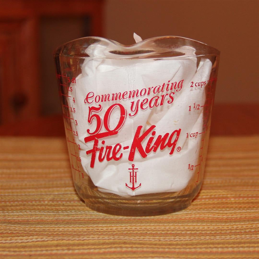 FIRE KING Commemorating 50 Years 2 Cup 1/2 Lt Measuring Cup Anchor Hocking