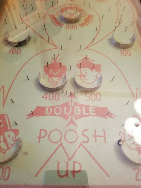 1930s Double Poosh M Up Clown Children's tabletop pinball game pin ball