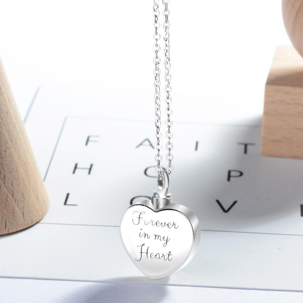 Cremation Memorial Ashes Urn Locket Heart Necklace