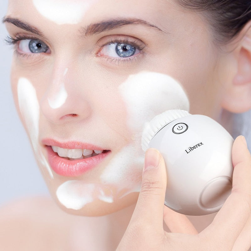 Liberex Facial Cleansing Egg /3 Heads/ Wireless Charging