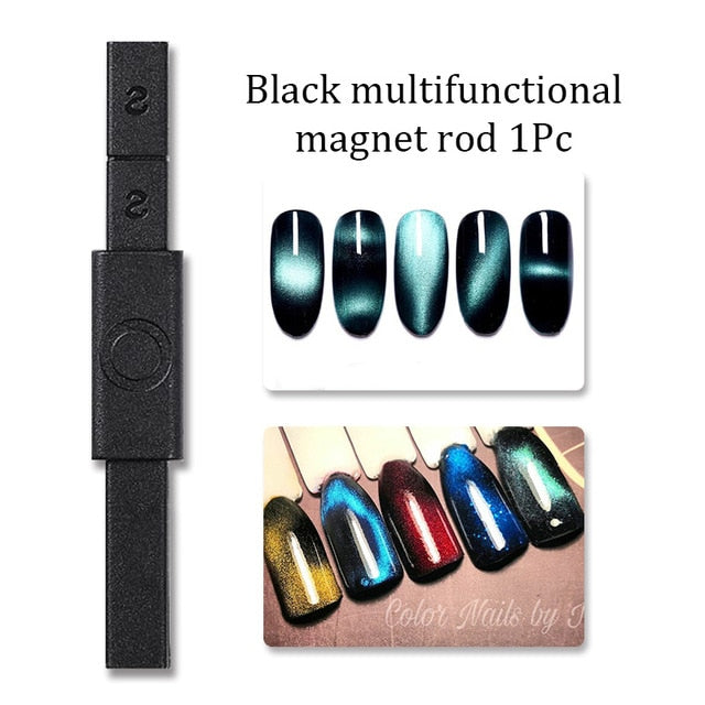 Multi-function 12 in 1 Magnetic Nail Art Stick 3D Cat Eyes