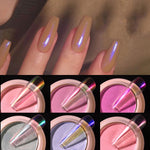 Load image into Gallery viewer, Transparent Holo Nail Glitter Mirror Aurora Neon Powders Dust