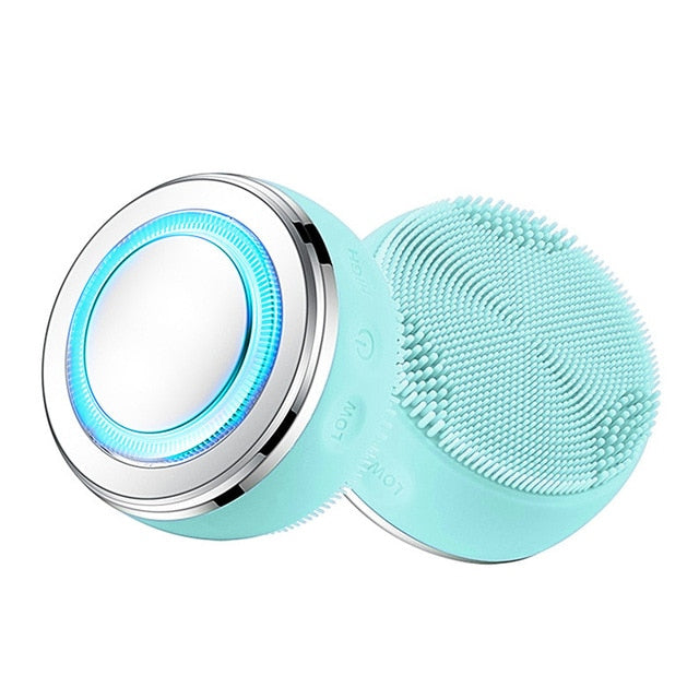 2in1 LED Light Silicone Heating Face Cleanser