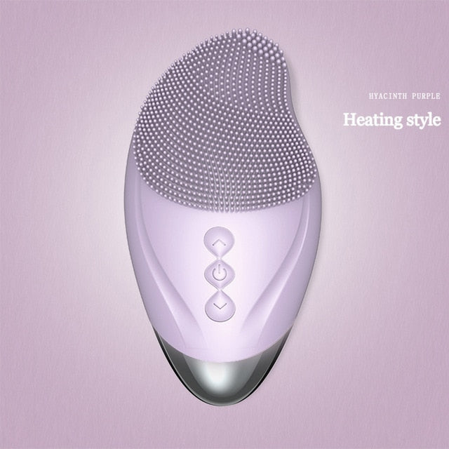 Silicone Facial Cleanser Brush With Heating Version
