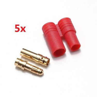 5PCS 3.5MM Gold Plated Banana Plug With Belt Sheath