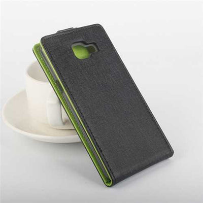 Dual Colors Up And Down Flip PU Leather Case For Samsung Galaxy A5 2016