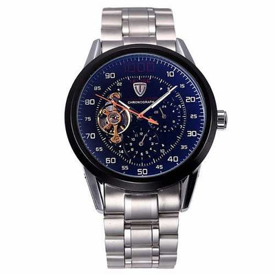 Tevise 8378 Automatic Mechanical Men Watch Count-downn Stainless Steel Wristwatch