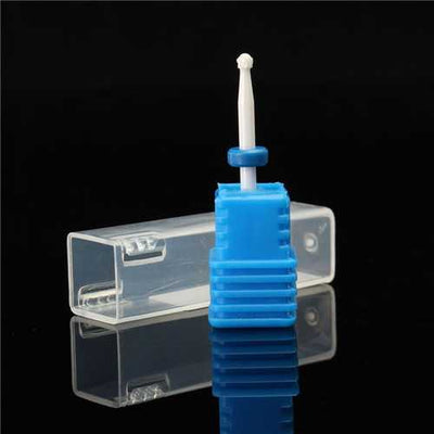 2.35mm Ceramic Nail Art Drill Bit Round Gel Remover Electric Manicure Tool File Polish Blue