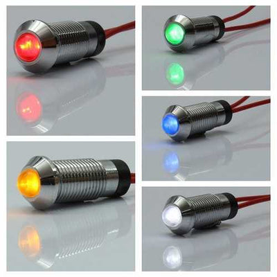 8mm 12V LED Indicator Light Pilot Directional Dashboard Lamp Car Truck Boat