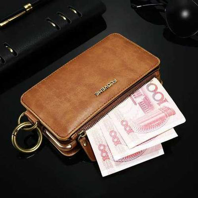 Floveme Detachable Zipper Wallet Case For iPhone 7/iPhone 8