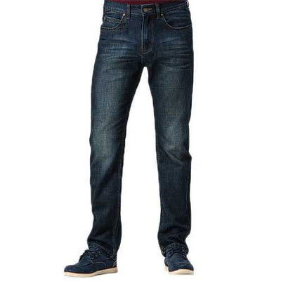 Mens Business Casual Straight Leg Washed Long Pants Jeans