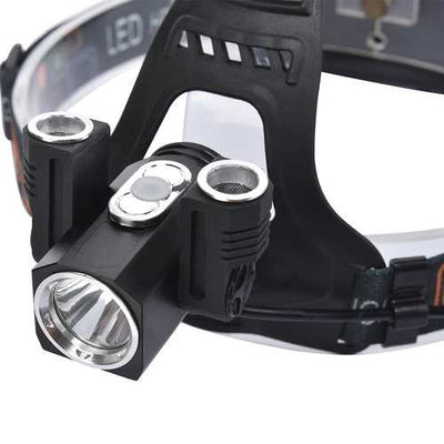 XANES 2712-2 1000 Lumens T6+2XPE Led Bicycle  Headlight 180  Rotation Outdoor Sports HeadLamp