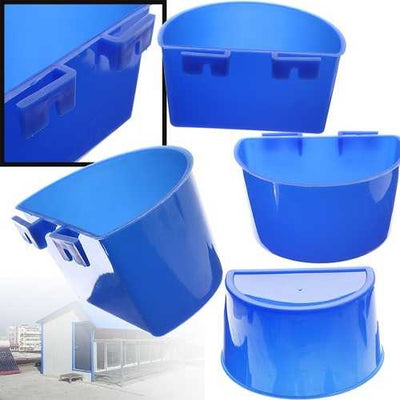 1PCS Blue Hanging Water Feeder Cage Cups Animals Food Dish Bowls Pet Water Bowl