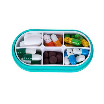 Honana HN-PB003 Portable Pill Case Colorful Medicine Jewelry Storage Box Pill Organizer