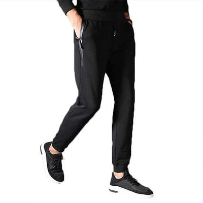 Men Spring Fall Casual Sport Pants Fashion Fitness Cotton Haroun Feet Pants