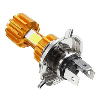 H4 12V 10W Bulb 2000Lm 3 COB Motorcycle LED Headlights Hi/Lo Super Bright Lamp