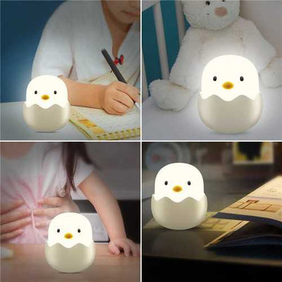 Touch Sensor USB Rechargeable Dimming LED Night Light for Kids Room Bedroom Baby Feeding