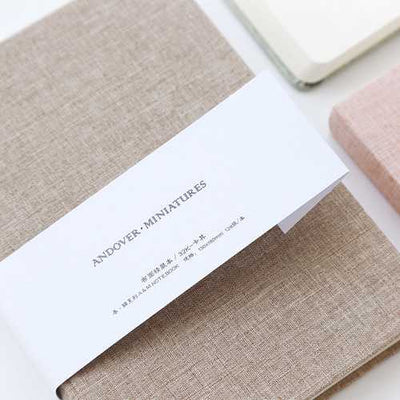 32k 128 Sheets Portable Notebook Blank Paper Linen Cover Diary Memo Sketchbook Office School