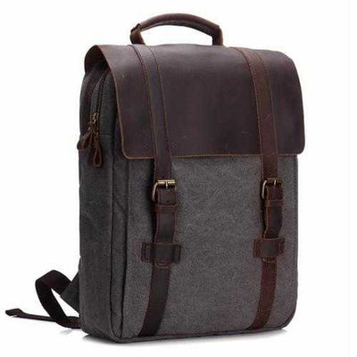 Vintage Canvas 15 inch Laptop Bag Backpack Men Women