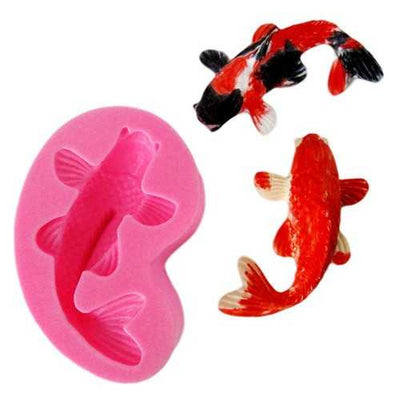 Koi Fish Cartoon Silicone Fondant Cake mold 3D Fish Candle Moulds Soap Chocolate Baking Mold for The Baking Tools