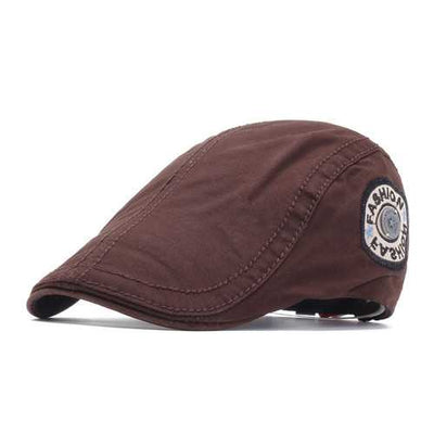 Unisex Cotton Causal Embroidery Beret Hats